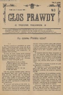 Głos Prawdy : tygodnik maryawicki. 1936, nr3