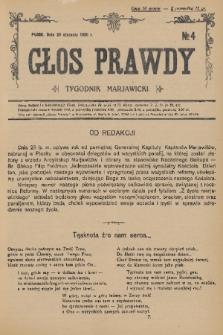 Głos Prawdy : tygodnik maryawicki. 1936, nr4