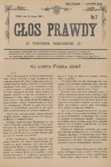 Głos Prawdy : tygodnik maryawicki. 1936, nr7