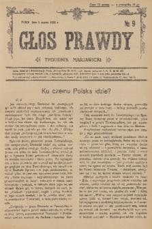 Głos Prawdy : tygodnik maryawicki. 1936, nr9
