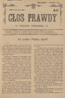 Głos Prawdy : tygodnik maryawicki. 1936, nr10
