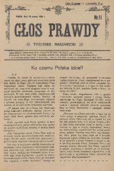 Głos Prawdy : tygodnik maryawicki. 1936, nr11