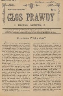 Głos Prawdy : tygodnik maryawicki. 1936, nr14