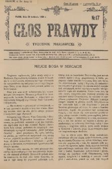 Głos Prawdy : tygodnik maryawicki. 1936, nr17