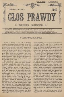 Głos Prawdy : tygodnik maryawicki. 1936, nr19