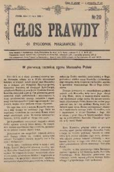 Głos Prawdy : tygodnik maryawicki. 1936, nr20
