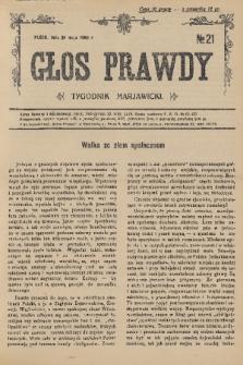 Głos Prawdy : tygodnik maryawicki. 1936, nr21