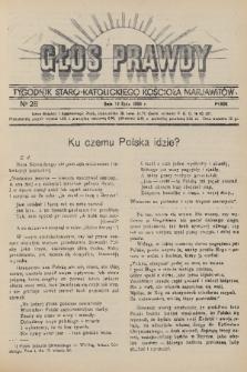 Głos Prawdy : tygodnik Staro-Katolickiego Kościoła Marjawitów. 1936, nr28