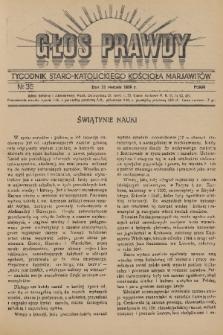 Głos Prawdy : tygodnik Staro-Katolickiego Kościoła Marjawitów. 1936, nr35