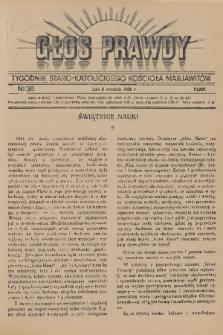 Głos Prawdy : tygodnik Staro-Katolickiego Kościoła Marjawitów. 1936, nr36