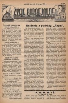 Życie Parafjalne : parafja Przen. Trójcy wBędzinie. 1938, nr7
