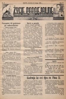 Życie Parafjalne : parafja Przen. Trójcy wBędzinie. 1938, nr9