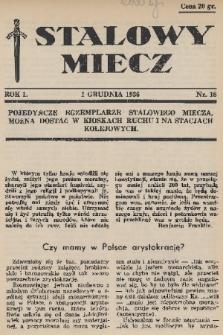 Stalowy Miecz. 1936, nr18