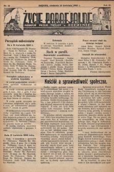 Życie Parafjalne : parafja Przen. Trójcy wBędzinie. 1938, nr15