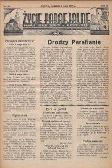 Życie Parafjalne : parafja Przen. Trójcy wBędzinie. 1938, nr18