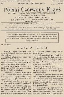 Polski Czerwony Krzyż : centralny organ Polskiego Czerwonego Krzyża : wydawnictwo miesięczne = Croix Rouge Polonaise : organe central de la Croix Rouge Polonaise : revue mensuelle. 1932, nr6