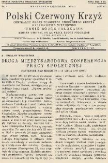 Polski Czerwony Krzyż : centralny organ Polskiego Czerwonego Krzyża : wydawnictwo miesięczne = Croix Rouge Polonaise : organe central de la Croix Rouge Polonaise : revue mensuelle. 1932, nr8