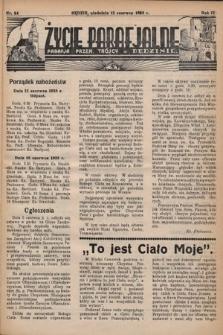 Życie Parafjalne : parafja Przen. Trójcy wBędzinie. 1938, nr24