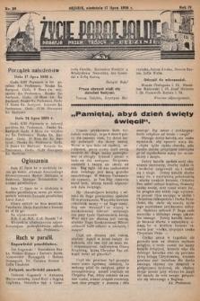 Życie Parafjalne : parafja Przen. Trójcy wBędzinie. 1938, nr29