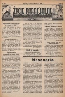 Życie Parafjalne : parafja Przen. Trójcy wBędzinie. 1938, nr30