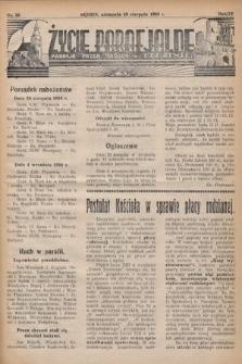 Życie Parafjalne : parafja Przen. Trójcy wBędzinie. 1938, nr35