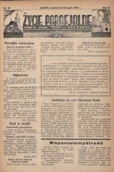 Życie Parafjalne : parafja Przen. Trójcy wBędzinie. 1938, nr46