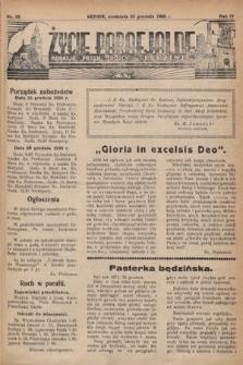 Życie Parafjalne : parafja Przen. Trójcy wBędzinie. 1938, nr52