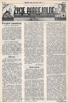 Życie Parafjalne : parafja Przen. Trójcy wBędzinie. 1939, nr14