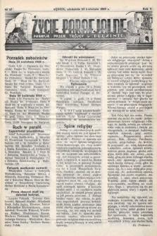 Życie Parafjalne : parafja Przen. Trójcy wBędzinie. 1939, nr17