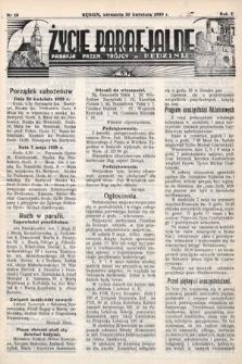 Życie Parafjalne : parafja Przen. Trójcy wBędzinie. 1939, nr18