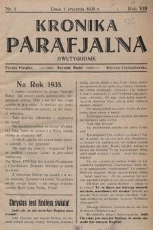 Kronika Parafjalna : dwutygodnik. 1935, nr1