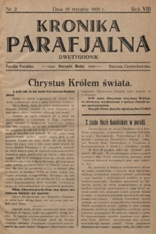 Kronika Parafjalna : dwutygodnik. 1935, nr2
