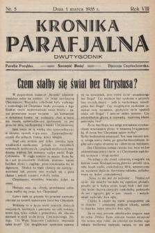 Kronika Parafjalna : dwutygodnik. 1935, nr5