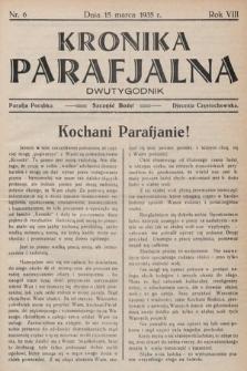 Kronika Parafjalna : dwutygodnik. 1935, nr6