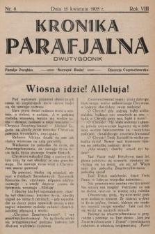 Kronika Parafjalna : dwutygodnik. 1935, nr8