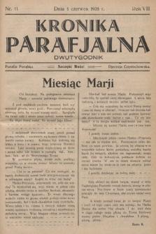 Kronika Parafjalna : dwutygodnik. 1935, nr11