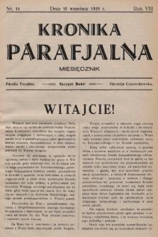 Kronika Parafjalna : dwutygodnik. 1935, nr14
