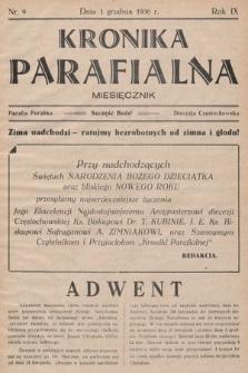 Kronika Parafjalna : miesięcznik. 1936, nr9