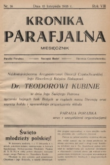 Kronika Parafjalna : dwutygodnik. 1935, nr16