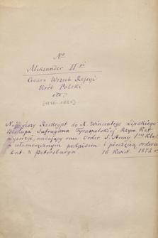 Autografy królewskie panujący poza Polską i członkowie ich rodzin