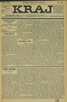 Kraj. 1874, nr 141 (24 czerwca)