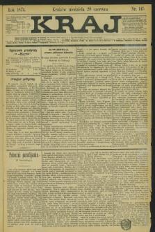 Kraj. 1874, nr 145 (28 czerwca) + dod.