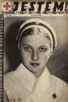 Jestem ! : w czasie pokoju i wojny na stanowisku : czasopismo P.C.K. dla wszystkich. 1938, nr1
