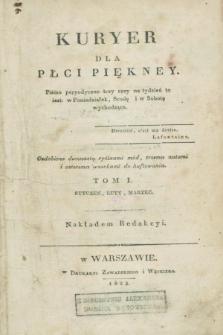 Kuryer dla Płci Piękney czyli Dziennik Literaturze, Kunsztom, Nowościom i Modom Poświęcony. R.1, T.1, Ner 1 (1 stycznia 1823)