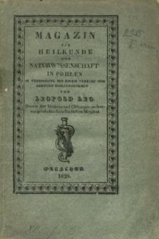 Magazin für Heilkunde und Naturwissenschaft in Pohlen. Jg.1, Heft 1 (1828) + wkładka