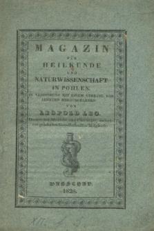 Magazin für Heilkunde und Naturwissenschaft in Pohlen. Jg.1, Heft 3 (1828) + wkładka