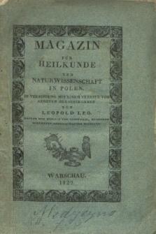 Magazin für Heilkunde und Naturwissenschaft in Polen. Jg.2, Heft 1 (1829) + wkładka