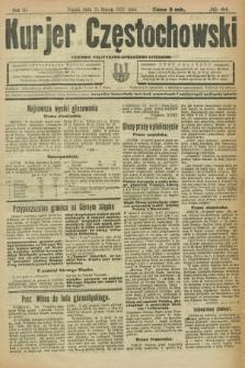 Kurjer Częstochowski : dziennik polityczno-społeczno literacki. R.3, № 44 (25 marca 1921)