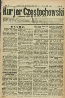 Kurjer Częstochowski : dziennik polityczno-społeczno literacki. R.4, № 23 (28 stycznia 1922)