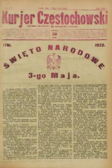 Kurjer Częstochowski : dziennik polityczno-społeczno literacki. R.4, № 100 (3 maja 1922)